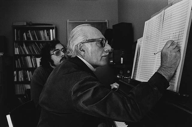 John Weinzweig at Faculty of Music 1973, Walter Curtin